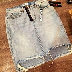 NWT WilliamRast Jean Skirt size 26